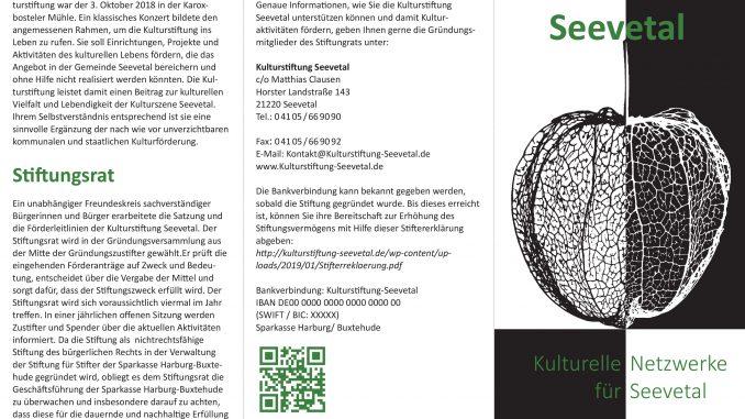 Faltblatt Kulturstiftung Seevetal-Gruendung