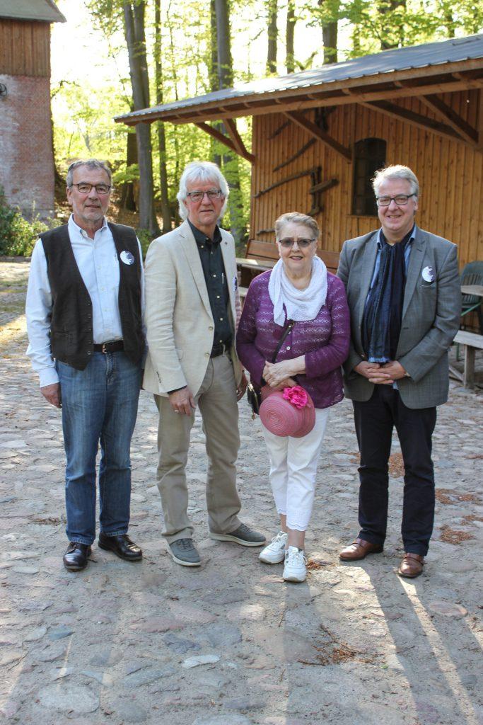 Stiftungsrat am 25.4.2019 vlnr:  Joachim von Elsner, Matthias Clausen, Ingrid Ahlers-Karlsson, und Michael Ränger.