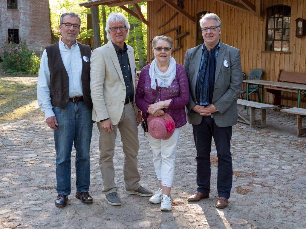Foto: Bernd Zimmermann Stiftungsrat am 25.4.2019 vlnr: Joachim von Elsner, Matthias Clausen, Ingrid Ahlers-Karlsson, und Michael Ränger.